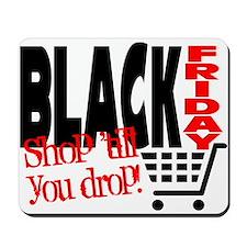 Black Friday Shopping Cart Mousepad