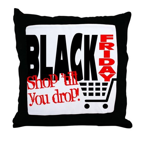 Black Friday Throw Pillows : Black Friday Shopping Cart Throw Pillow by insanitycafe