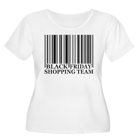 Black Friday Women's Plus Size Scoop Neck T-Shirt