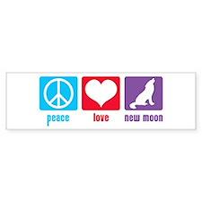 Peace Love New Moon Bumper Bumper Sticker