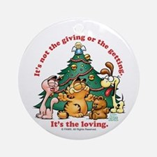 IT'S THE LOVING Garfield Ceramic Ornament