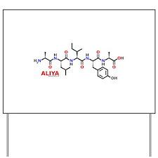 Aliya name molecule Yard Sign