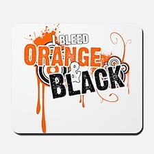 Orange & Black Mousepad