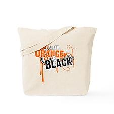 Orange & Black Tote Bag
