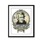 Irony is Andrew Jackson Framed Panel Print