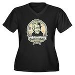 Irony is Andrew Jackson Women's Plus Size V-Neck D