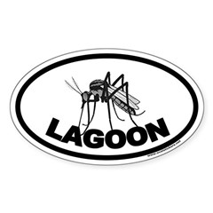 Mosquito Lagoon Euro Style Oval Decal