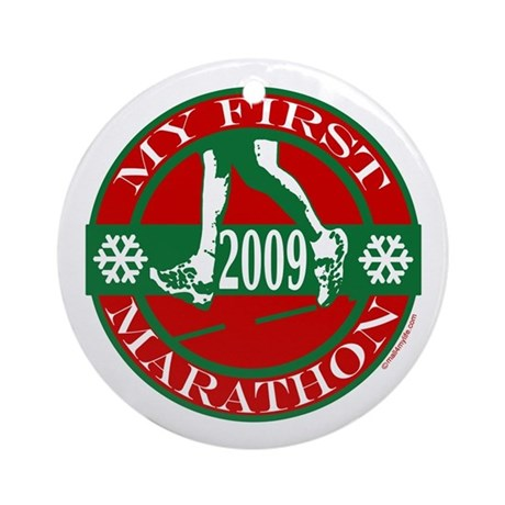 My First Marathon 2009 Ornament (Round)