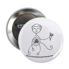 Monkey can Tattoo Button