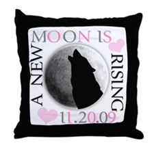 A New Moon is Rising Throw Pillow