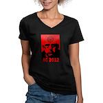 Aleister Crowley 2012 Women's V-Neck Dark T-Shirt
