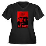 Aleister Crowley 2012 Women's Plus Size V-Neck Dar