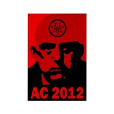 Aleister Crowley 2012 Rectangle Magnet