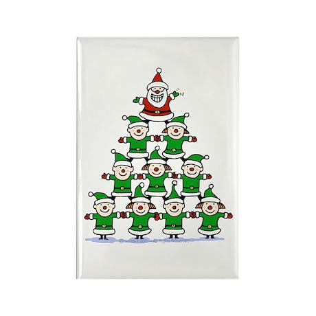 Santa and Elves Rectangle Magnet