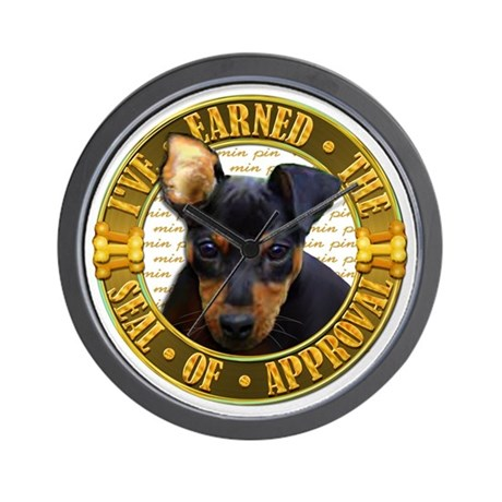 Min Pin Puppy Wall Clock