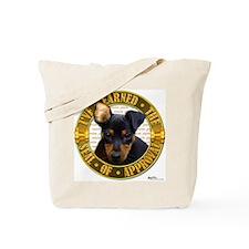 Min Pin Puppy Tote Bag