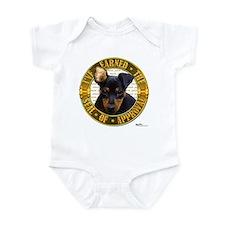 Min Pin Puppy Infant Bodysuit
