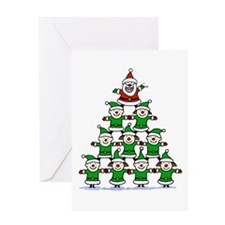 Santa and Elves Greeting Card
