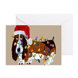 Basset hound Greeting Cards (20 Pack)