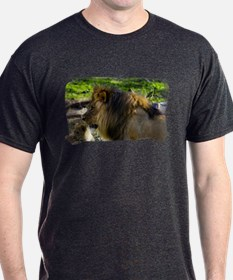 Male Lion Left T-Shirt
