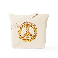 Cute Peace love candy Tote Bag