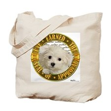 Maltese Puppy Tote Bag