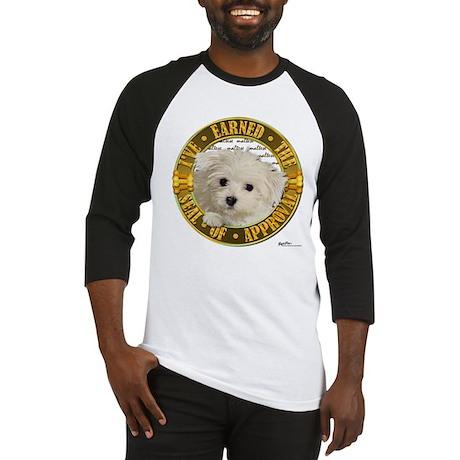 Maltese Puppy Baseball Jersey