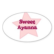 Sweet Ayanna Oval Decal