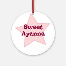 Sweet Ayanna Ornament (Round)