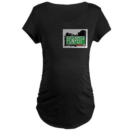 POMPEII AVENUE, QUEENS, NYC Maternity Dark T-Shirt