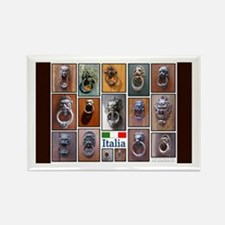 Doorknockers of Italy Rectangle Magnet (10 pack)
