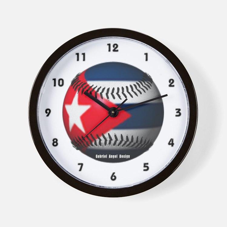 Cuban Baseball Wall Clock