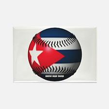 Cuban Baseball Rectangle Magnet