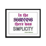 Simplicity Framed Panel Print