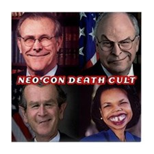 NEOCON DEATH CULT - Tile Coaster