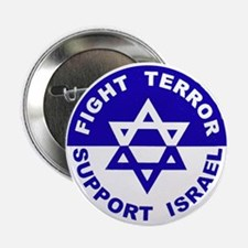 """Fight Terror Support Israel 2.25"""" Button (10 pack)"""