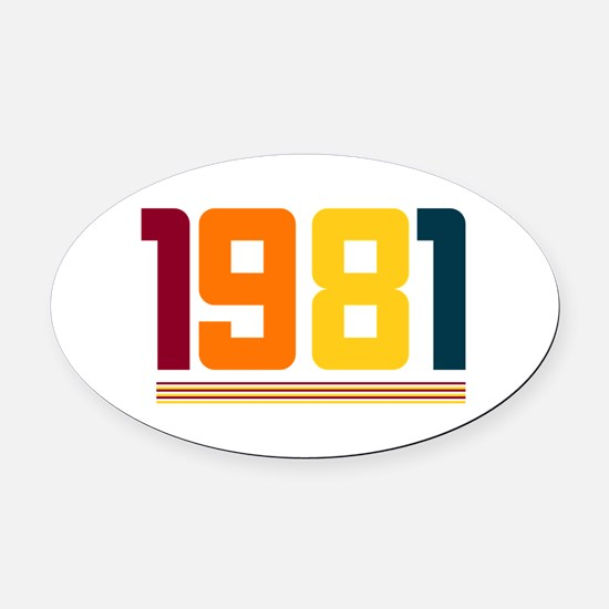 1981 Oval Car Magnet