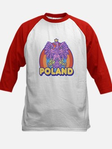 Retro 80's Poland Kids Baseball Jersey