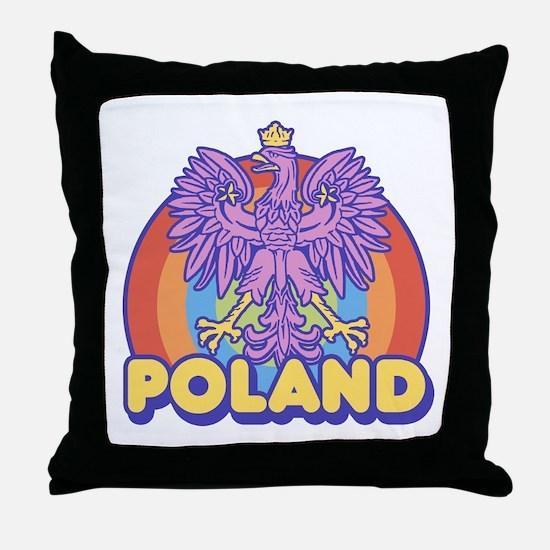 Retro 80's Poland Throw Pillow