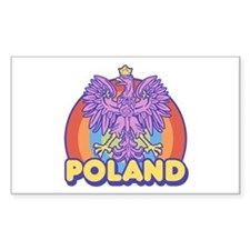 Retro 80's Poland Rectangle Decal