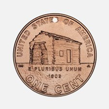 Lincoln Penny Ornament (Round)