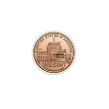Lincoln Penny Mini Button