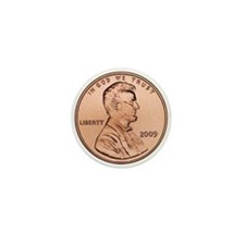Lincoln Penny Mini Button
