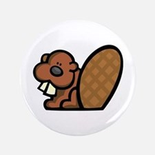 "Cute Beaver 3.5"" Button"