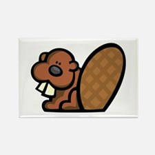 Cute Beaver Rectangle Magnet
