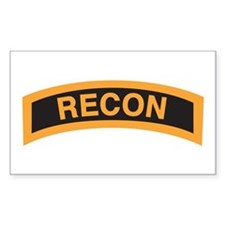 Recon Tab Black and Gold Rectangle Decal
