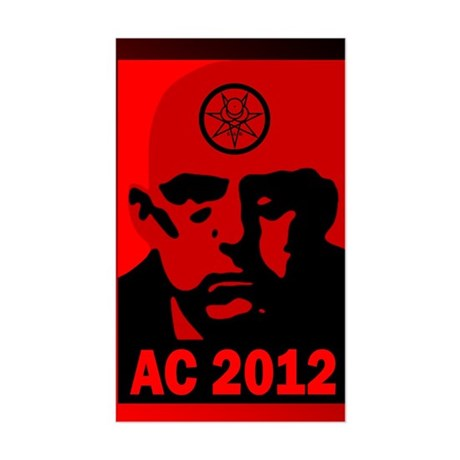 Aleister Crowley 2012 Sticker (Rectangle)