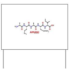 Amani name molecule Yard Sign