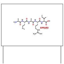 Amari name molecule Yard Sign