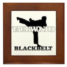 TaeKwonDo Black Belt Framed Tile